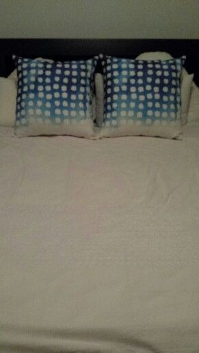 """K&T blue and white designed pillow """"Rockpool"""""""