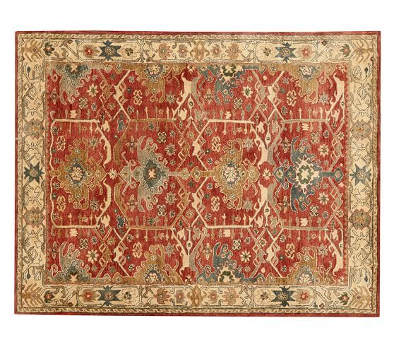 Channing Persian Style Rug Warm Colors Geometric Feel To The Pattern
