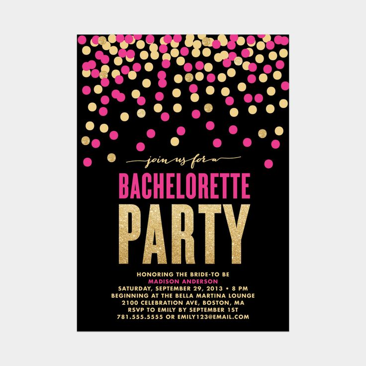 3768 best Glitter Wedding Invitations images on Pinterest - bachelorette invitation template