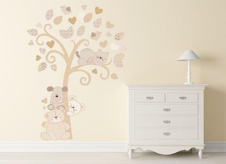 Adesivi Murali Alberi, Decorazioni Interni, Albero dei Cuccioli : Decorazioni…