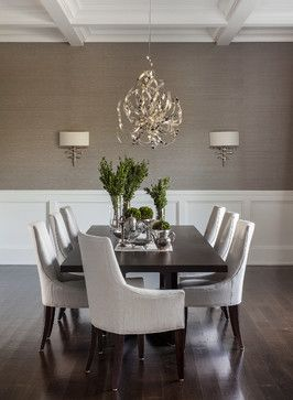 Hamptons Summer Home - transitional - Dining Room - New York - Sean Litchfield Photography