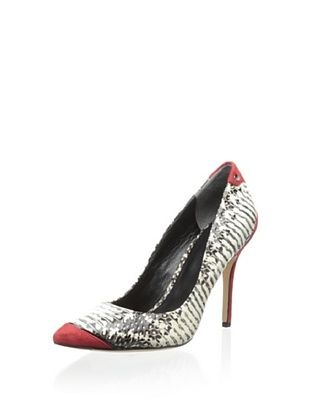 50% OFF Rachel Roy Women's Aron Pump (Black/White)