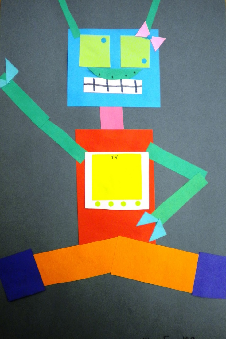 robot collage  1st grade