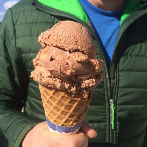 "There may still be some ""jacket days"" here at the creamery, but it is the first day of summer! Bring on the ice cream!!  🍦Photo 