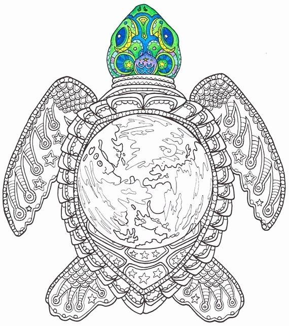 Coloring Page For Adults Printable In 2020 Turtle Coloring Pages