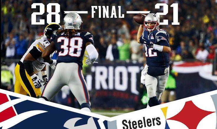 Final Score Steelers vs Patriots 9/10/15