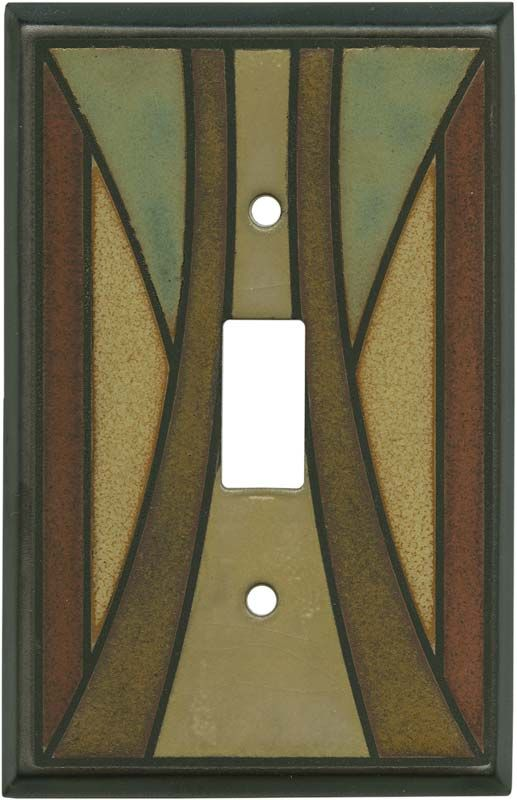Craftsman Ceramic Light Switch Plates, Outlet Covers, Wallplates