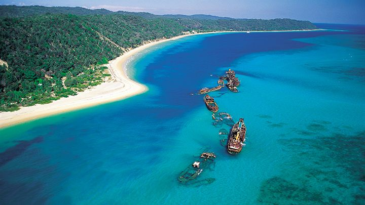 Tangalooma ship wrecks on Moreton Island