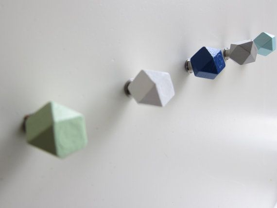 Knobs Choose Colors Hexagon Knobs Colorful by RaindropsAndDreams