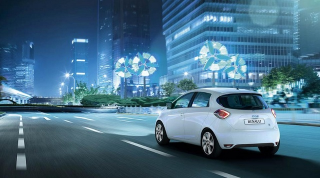 Renault Zoe Electric. A record range of 200 km.