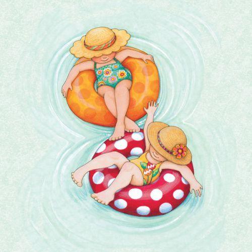New Skin design by Mary Engelbreit: Inner Tube Girls