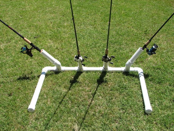 Diy bank fishing rod holder fishing pinterest for Homemade fishing rod holders