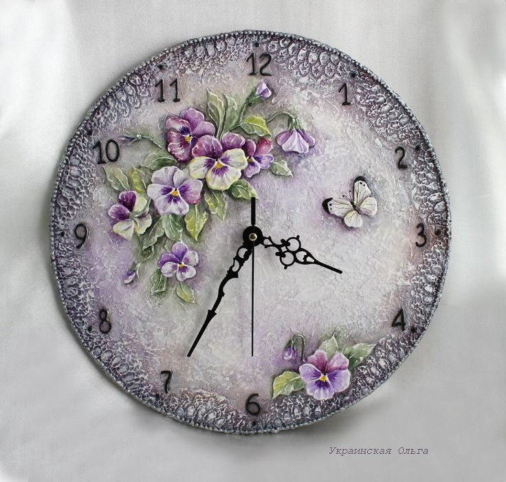 decoupage clock face - Szukaj w Google