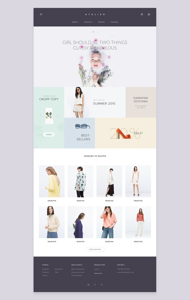 Template web design - e-commerce