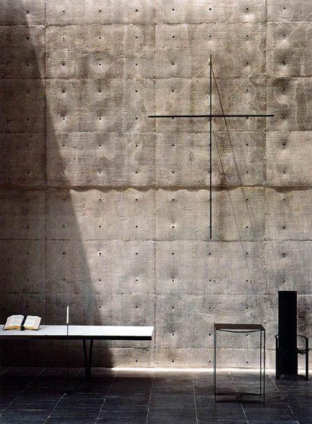 Church - Tadao  and the tofuish concrete texture