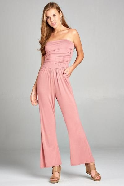 e374a8ca789 Tamara Tube Top Jumpsuit - Pink