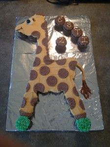 Safari Party – Giraffe Cupcake Cake | La Hoot Bakery