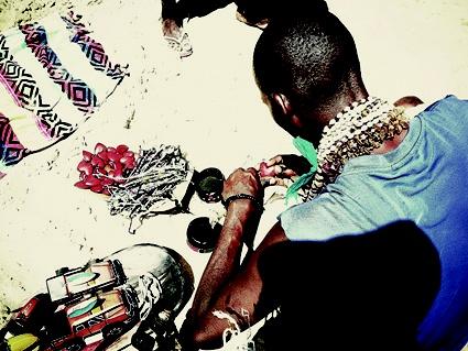 African Bead Seller # Tallow Journey# 2012