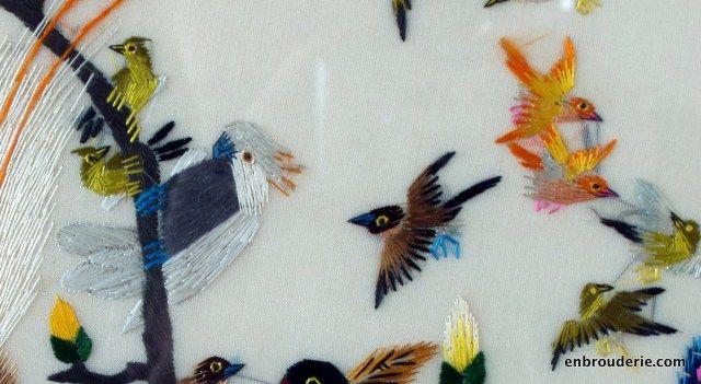 Тропические птицы расшитые