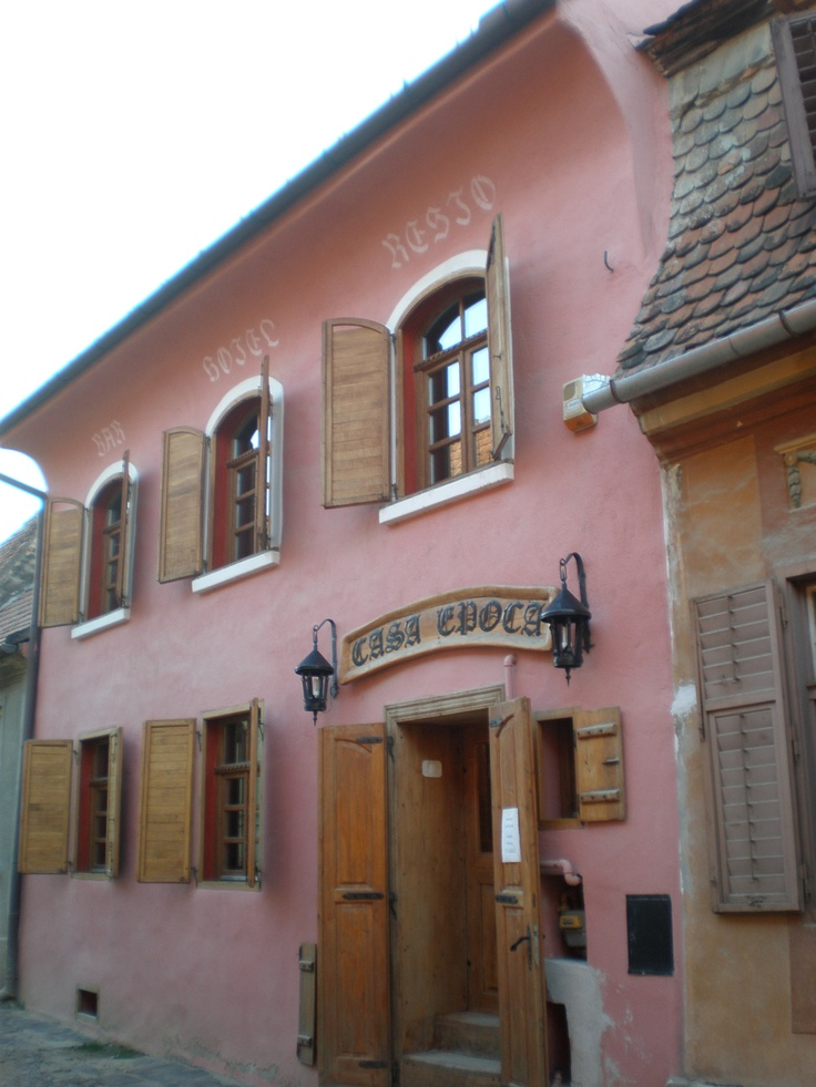Our hotel, in Sighisoara, Transylvania