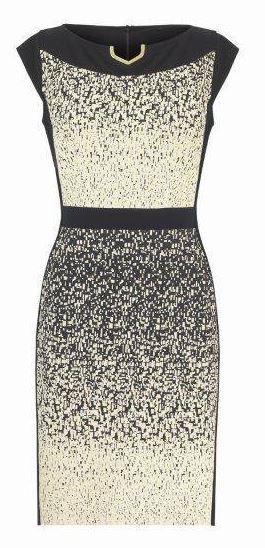 Joseph ribkoff black and gold dress