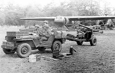 Brit gun jeep from Horsa glider