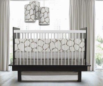modern crib | Cobblestone 3 Piece Crib Set in Taupe modern crib accessories
