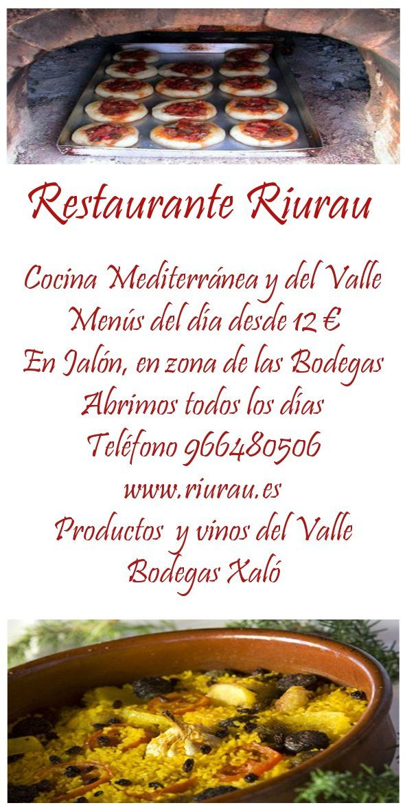 Restaurante Riurau, Xaló/Jalón