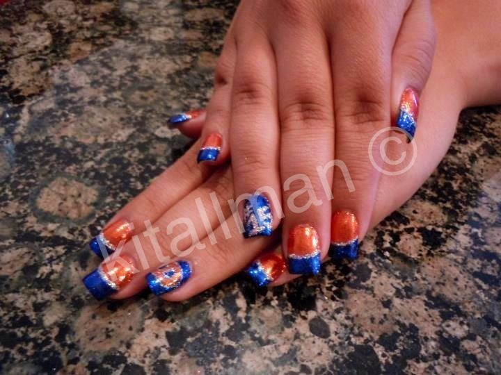 36 best denver broncos nail art images on Pinterest ...