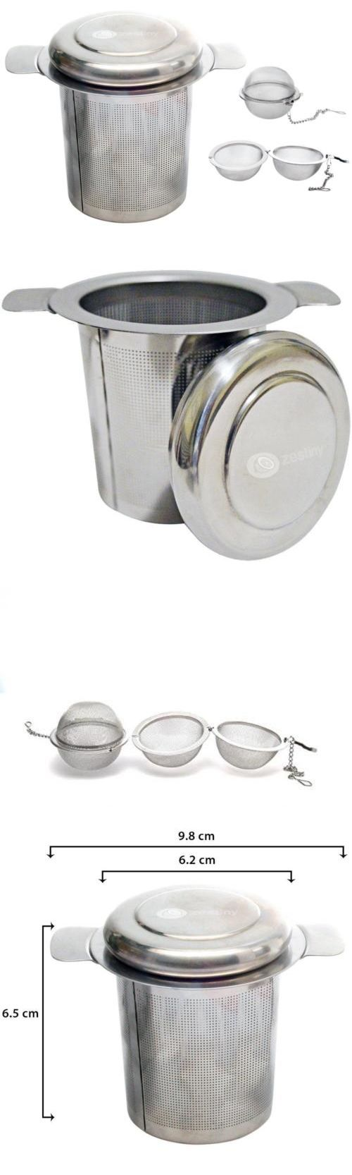 Kitchen sink stainless steel double drainer single bowl in vic ebay - Tea Infusers 177754 Tea Infuser Set 1 X Stainless Steel Strainer And 2 Mesh Ball