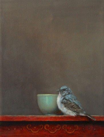 Paul Scott Gallery, Jhenna Quinn Lewis, birds, bird paintings