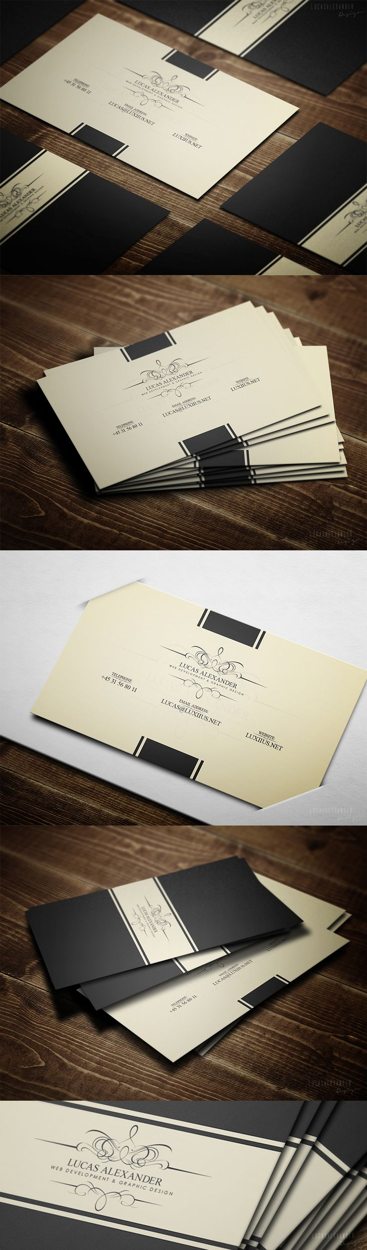 Great business cards by Lucas Alexander
