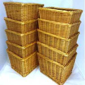 Pack of 10 Deep Wicker Gift Hamper Baskets at £70.00, 10% discount on the single price of £8 each. Gift baskets are really popular and this deep wicker gift hamper basket is no exception. Filling the basket yourself makes the gift much more personal. Use these baskets to make gift hamper baskets for all occasions: birthdays, weddings, baby shower, anniversary, valentine, Christmas and any time you want to give a special present. This is the basket we are using for the Great Yorkshire Hamper…