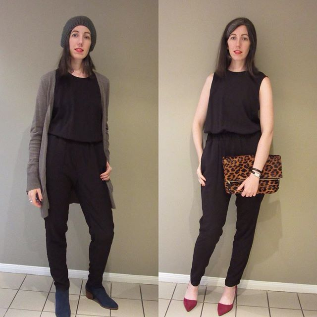New post on the blog! Sharing this jumpsuit 2 ways #whatiwore #wiw #blogged #bloggedit #blogger #blog #fashion #fashionblog #fashionblogger #torontoblogger #msgotit #tuesdayshoesday