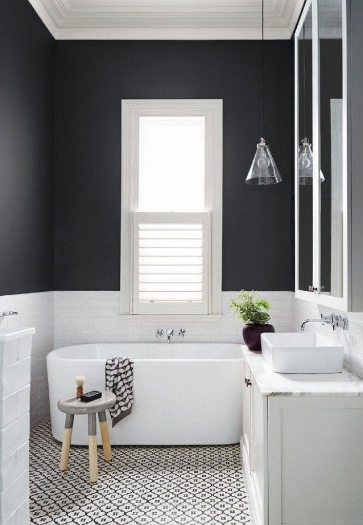 Schwarz Und Weiß Badezimmer Entwürfe #Badezimmer #Büromöbel