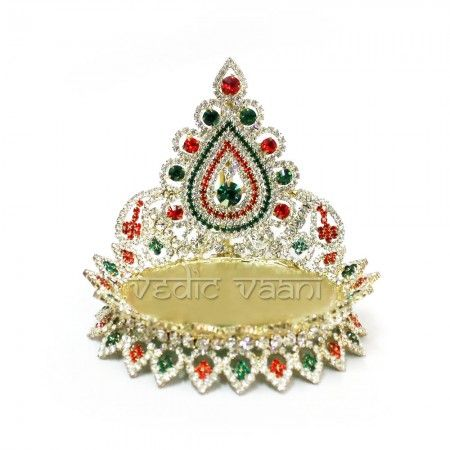 Buy God throne online from vedicvaani.com from India to across the worldwide. Deity throne studded with several colored gems to brighten your altar.