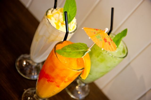 Summer is just a sip away!  Salted Caramel Shake, Miss Maud Mojito and Bahamarama Frappe