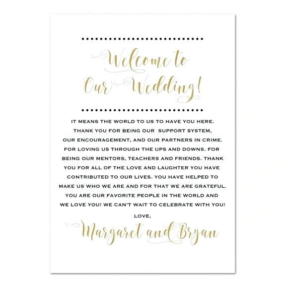 Welcome Letter For Wedding Hotel Guests Sample Hotel Wedding