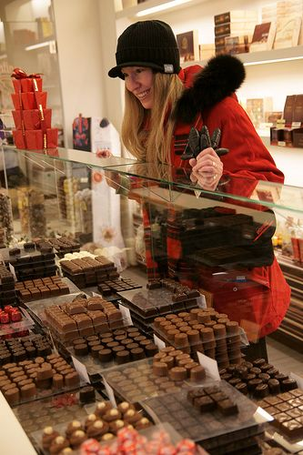 Leonidas Pralines ...could be me...each time I go home, Leonidas is a obligatory stop