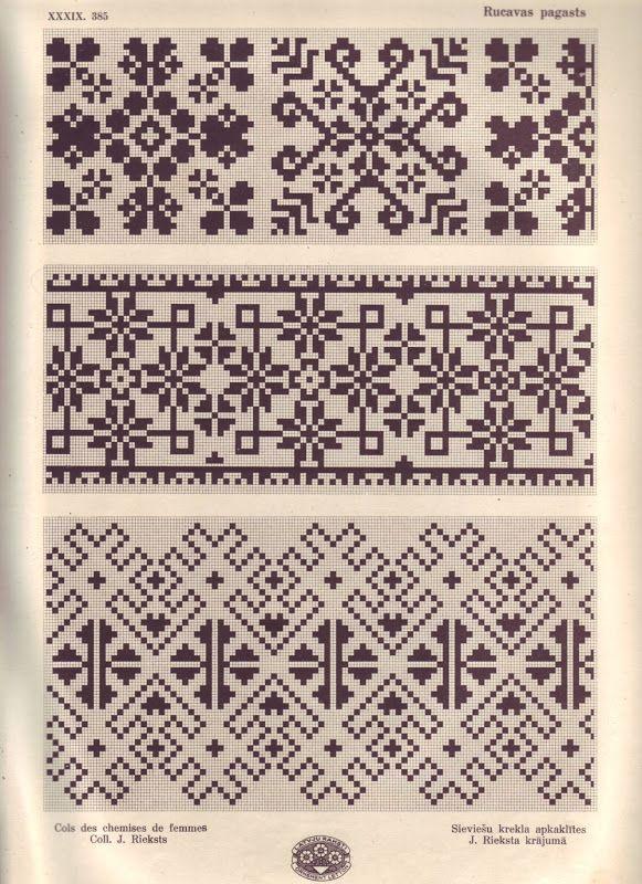 Latvian ornaments & charts - Monika Romanoff - Picasa Web Albümleri