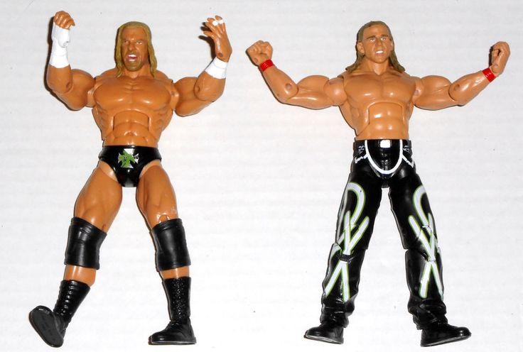 WWE Jakks Shawn Michaels Triple H Lot of 2 Loose Wrestling Figures DX HBK HHH #JAKKSPacific