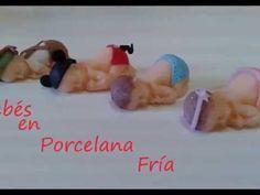 Bebé dormilón en cunita. todo en porcelana fría - YouTube