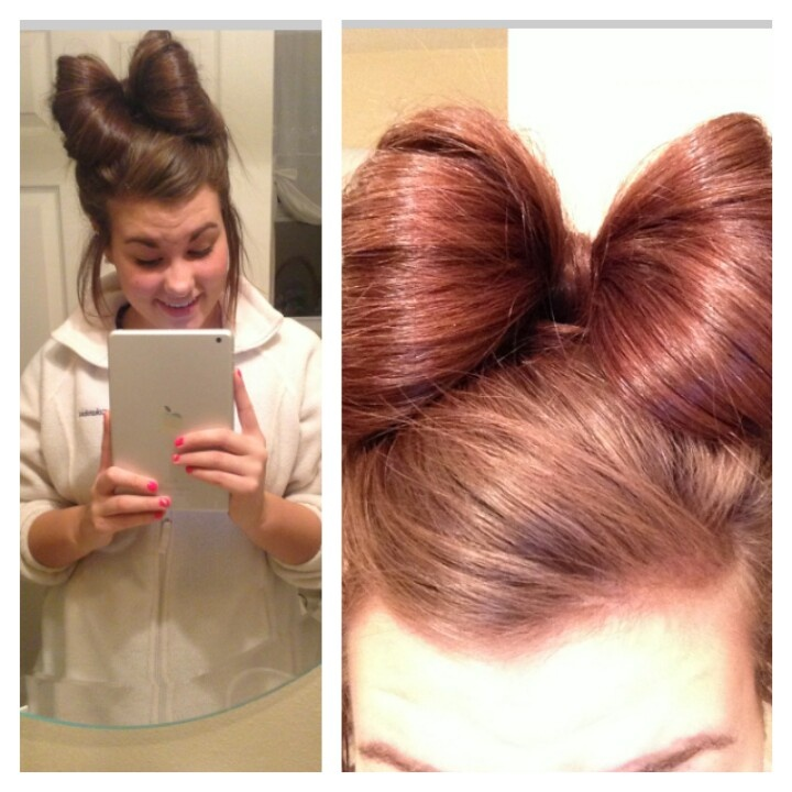 Best Bow Bun Images On Pinterest Bow Buns Bows And Hair Styles - Hairstyle bun with bow