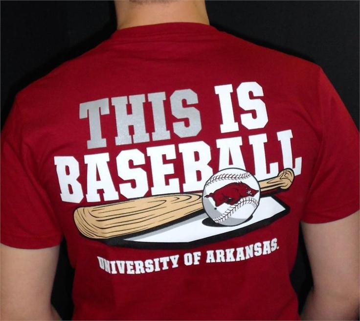 Arkansas Razorback Baseball Baum Stadium Mens T-Shirt