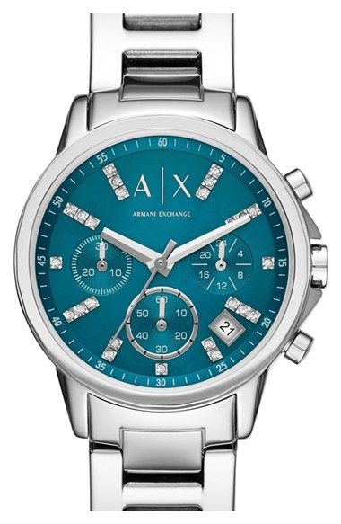 AX Armani Exchange Chronograph Bracelet Watch, 36mm available at #Nordstrom
