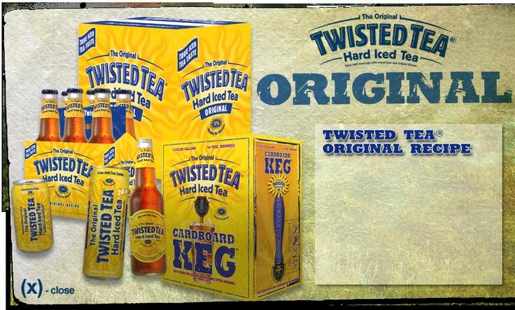Twisted Tea is promoted on the PRN (Performance Radio Network) of NASCAR.  Beer-based iced tea!!!!