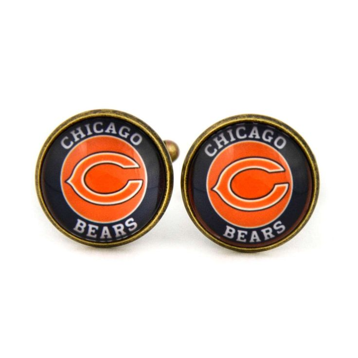 Chicago Bears Logo cufflinks. American football team. NFC. NFL. Personalised  Men's jewelry accessories gift. by Mysstic on Etsy