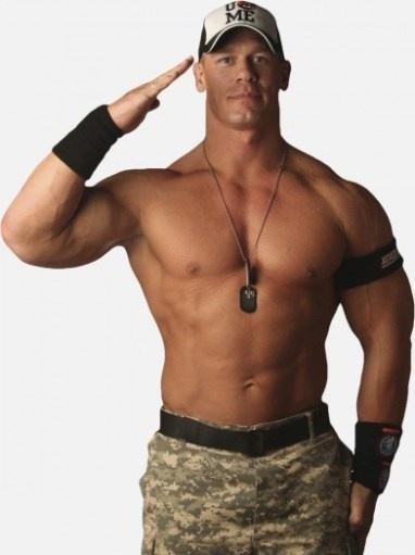 John Cena is All-American as hamburgers, hot dogs, and hot apple pie