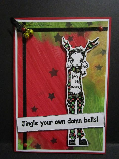 BaRb'n'ShEll Creations - Stampotique Oh My Dear and Jingle your own damn bells! Christmas Cards - made by Shell