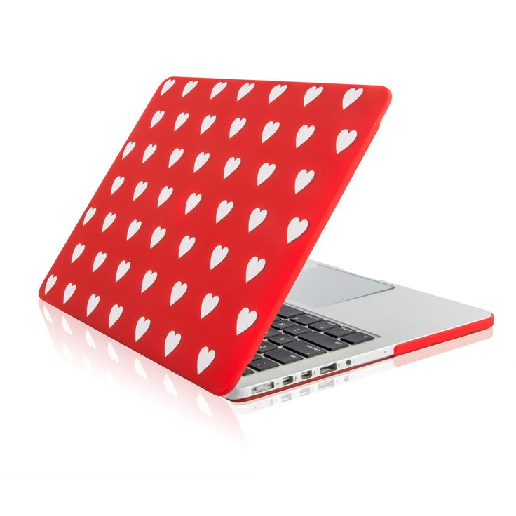 """Red Heart Shape Design Ultra Slim Light Weight Hard Case Cover for Apple MacBook Pro 15"""" with Retina Display Model: A1398"""